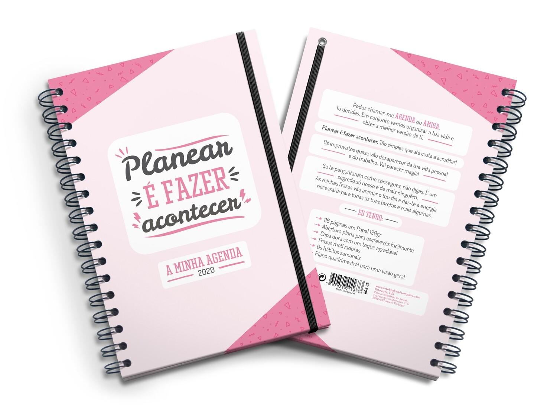 Agenda Motivadora - Planear é Fazer Acontecer (Agenda 2020)