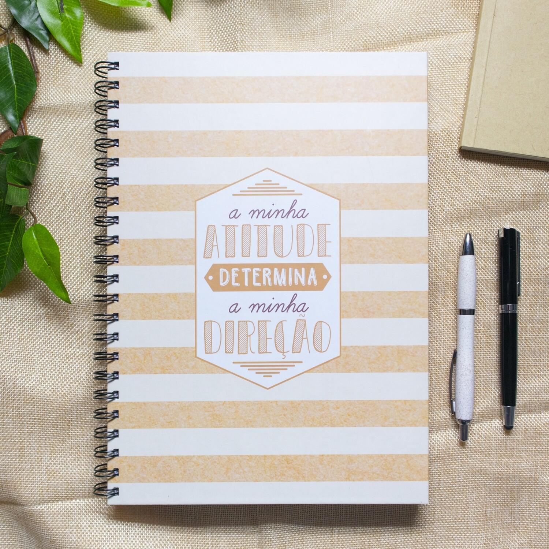 Caderno - A minha Atitude determina a minha Direção