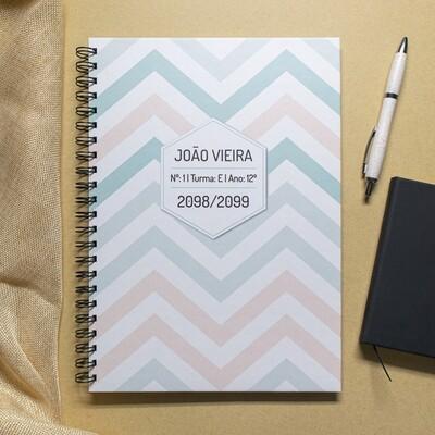 Caderno personalizável Zig Zag