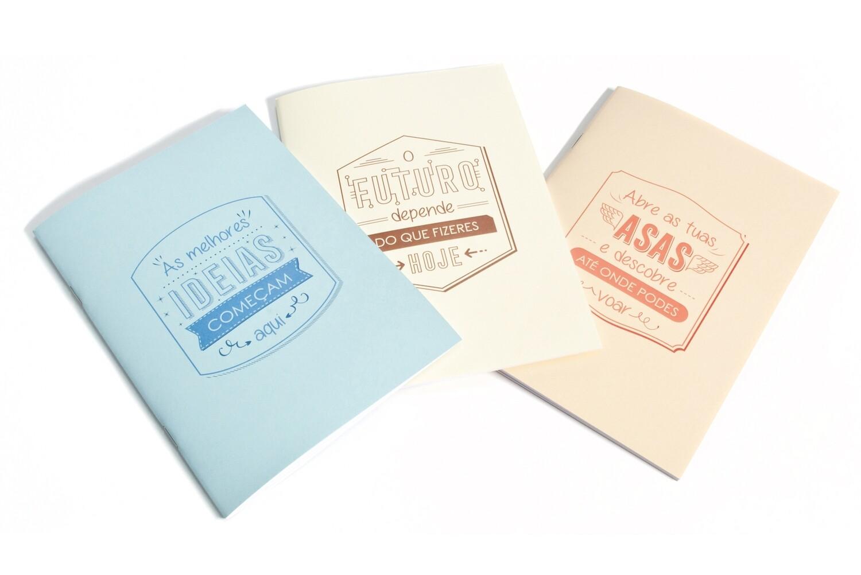 Conjunto 3 Cadernos Motivadores