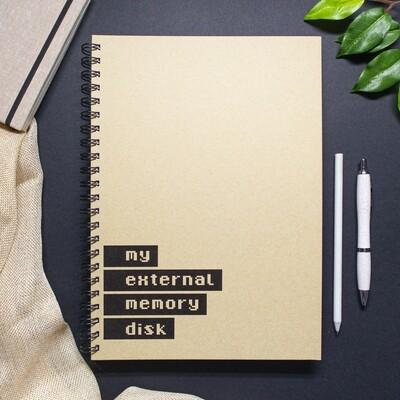 Caderno - My external memory disk