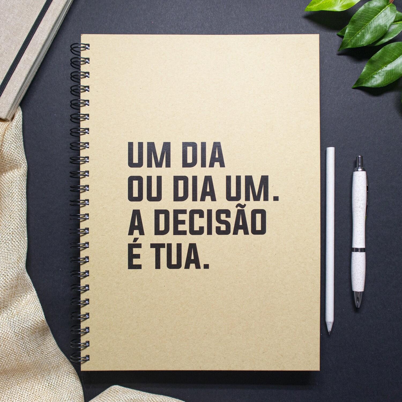 Caderno - Um dia, ou dia um