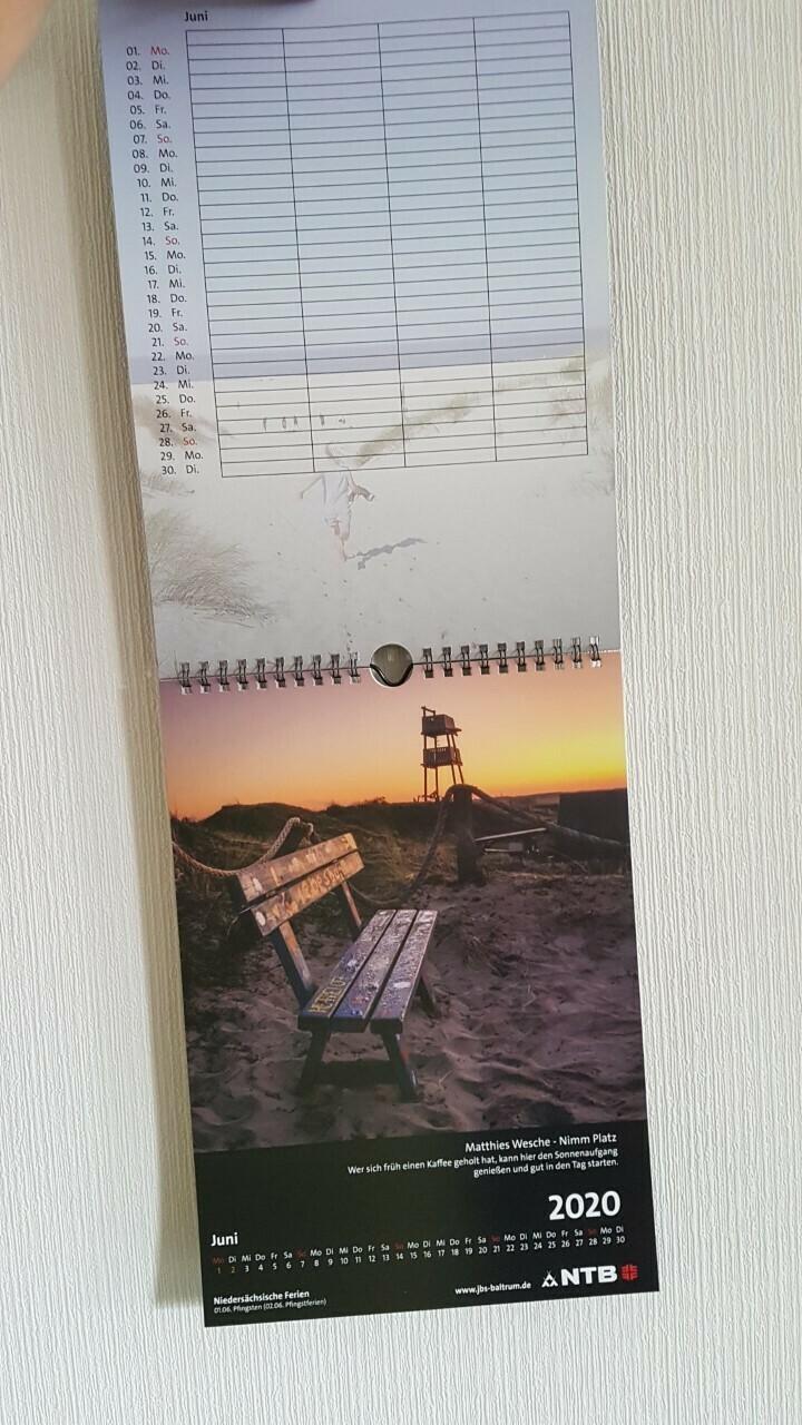 Fotokalender 2021/2022 von der Jugendbildungsstätte Baltrum