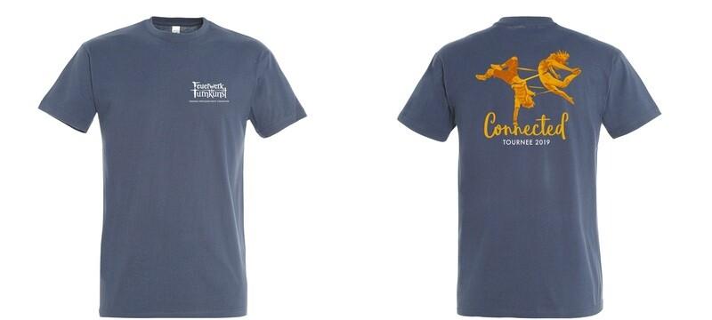 Feuerwerk der Turnkunst Connected Shirt Unisex (Denim)