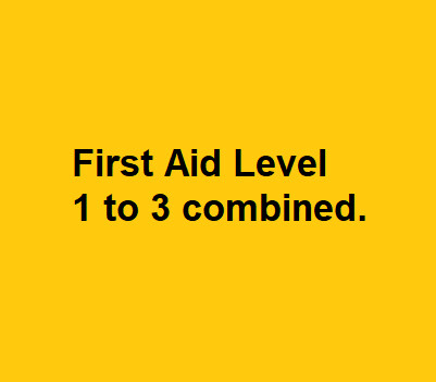First Aid Level 1 to 3 Combined Course