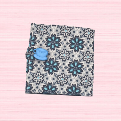 Tea Wallet - Blue Snowflake
