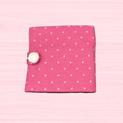 Tea Wallet - Pink Polka Dots