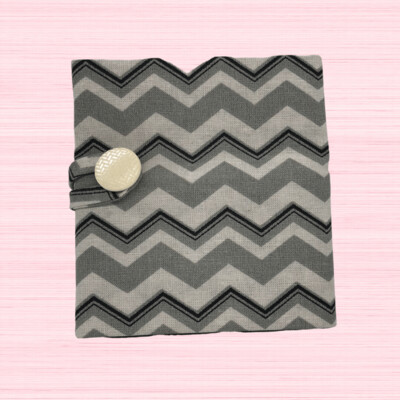 Tea Wallet - Grey Zig Zag Stripes