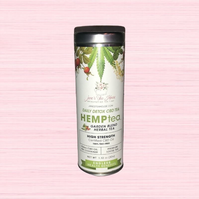 HEMPtea High Strength - Garden Blend Herbal Tea - Tin (DAILY DETOX)