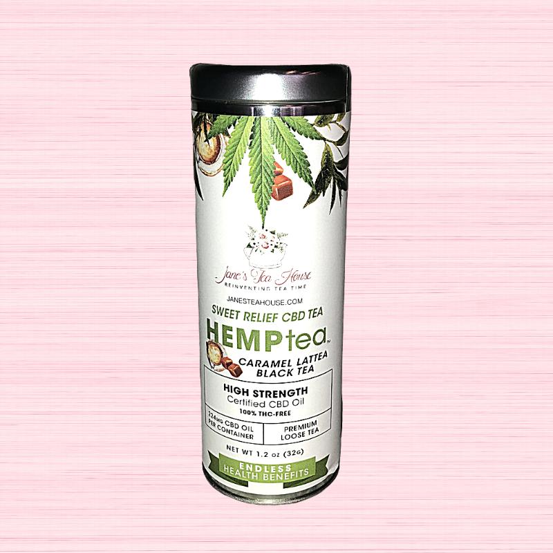 HEMPtea High Strength - Caramel Lattea Black Tea - Tin