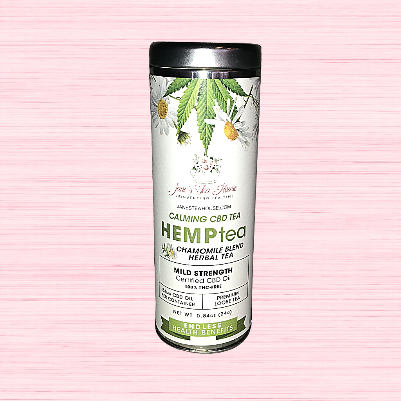 HEMPtea Mild Strength - Chamomile Blend Herbal Tea - Tin (CALMING)