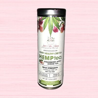 HEMPtea Mild Strength - Strawberry Apple Green Tea - Tin (BERRY)