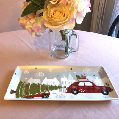 Christmas Tree and Car Serving Tray