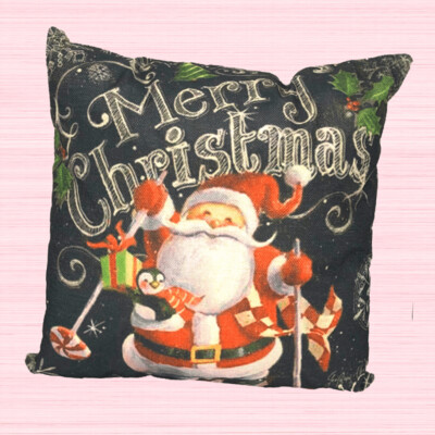 Merry Christmas Santa Holiday Pillow