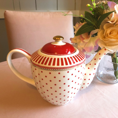 Red Polka Dot Tea Pot