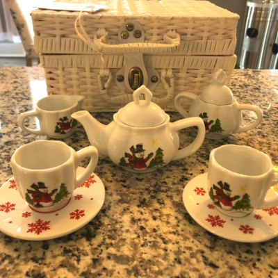Children's Snowman Tea Set
