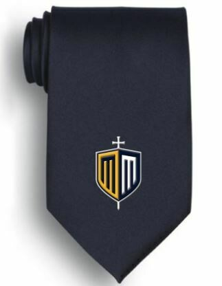 Embroidered Shield Tie