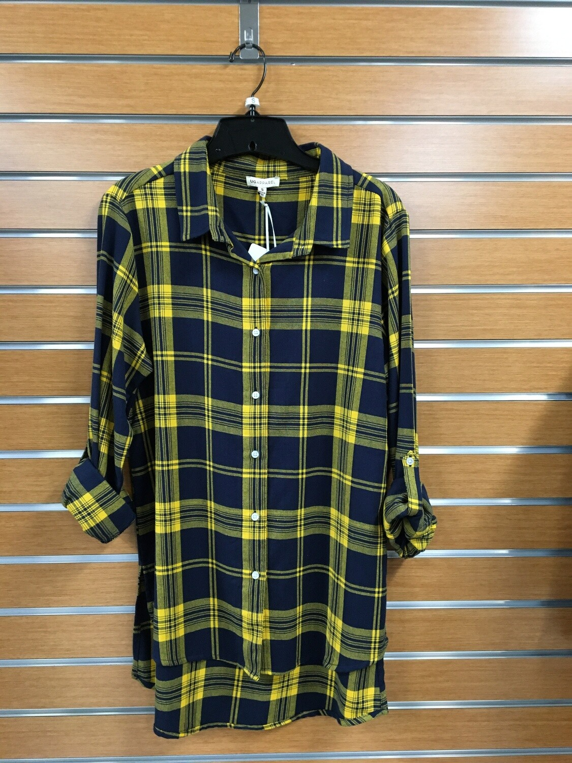 Plaid University Girls Shirt