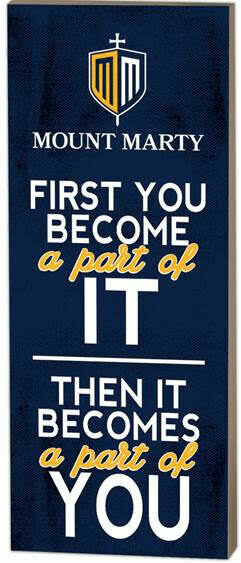 Mount Marty First You Become Plaque