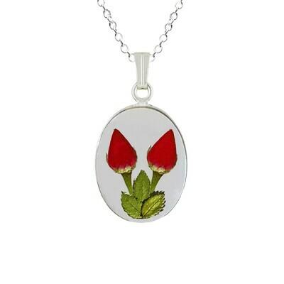 Rose Necklace, Medium Oval, Transparent
