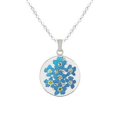 Forget-Me-Not Necklace, Medium Circle, Transparent