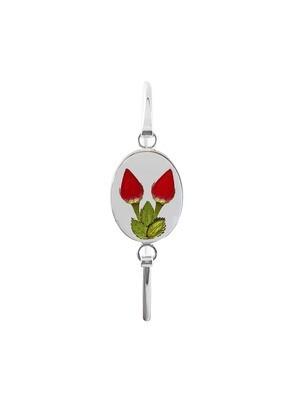 Real Roses Oval Bracelet, Transparent.
