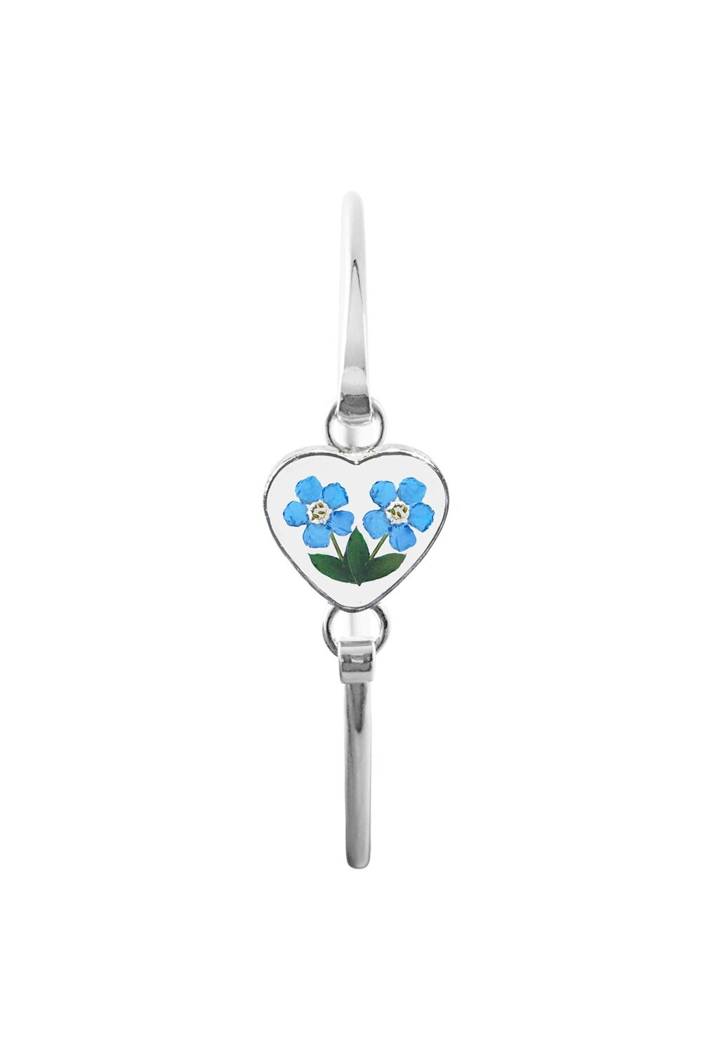 Small Forget-Me-Not Heart Bracelet , Transparent