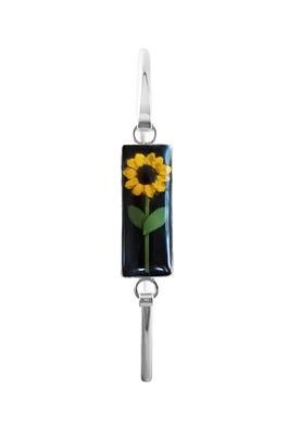 Sunflower Bracelet, Rectangle shape on Black Background.