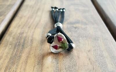 Rose Heart Leather Bracelet, Transparent
