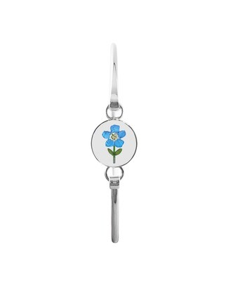 Real Forget-Me-Not, Small Circle Bracelet, Transparent