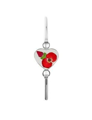 Crown Of Thorns & Rose Bud Heart Bracelet, Transparent