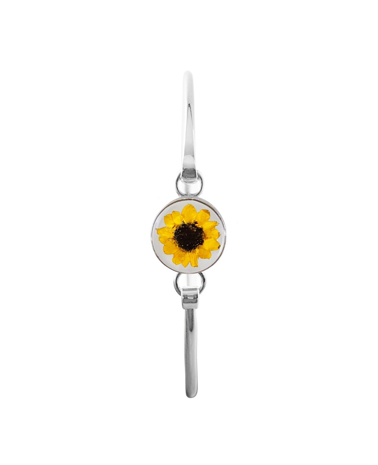 Sunflower Bracelet, Small Circle, Transparent.