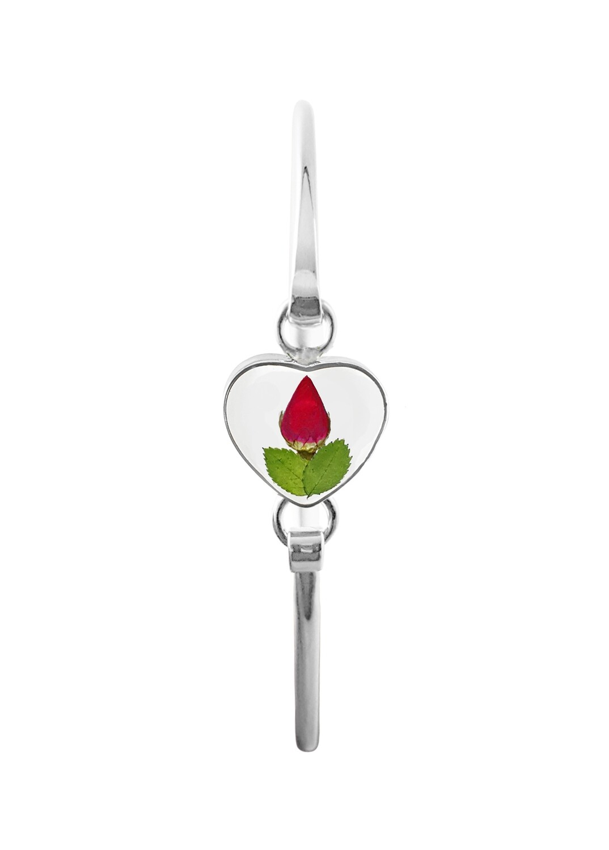 Rose, Small Heart Bracelet, Transparent.