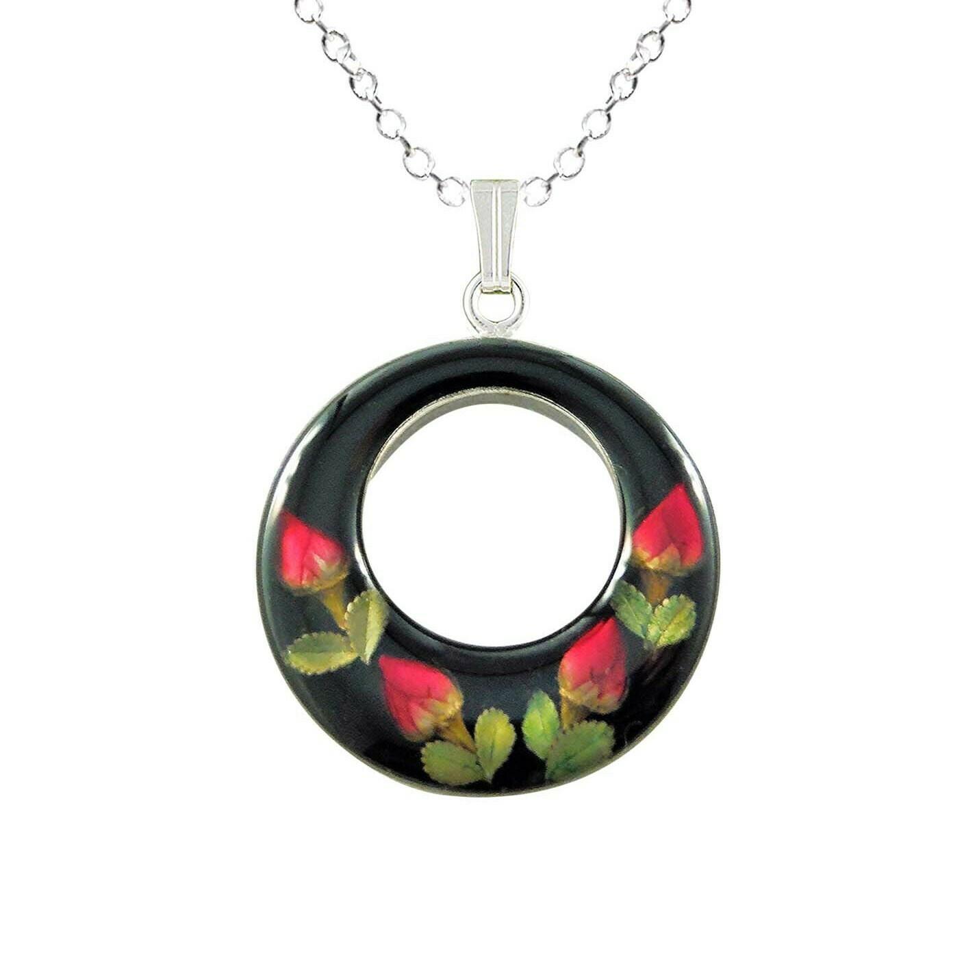 Rose Necklace, Full Moon, Black Background