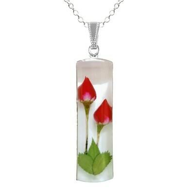 Rose Necklace, X-Large Cylinder, White Background