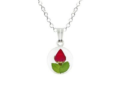 Rose Necklace, Small Circle, Transparent Background