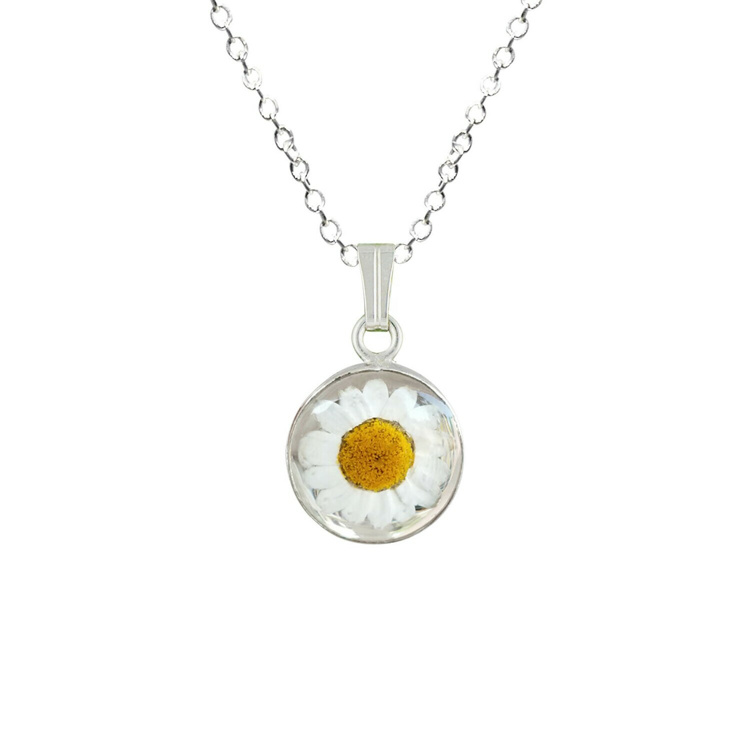 Daisy Necklace, Small Circle, Transparent
