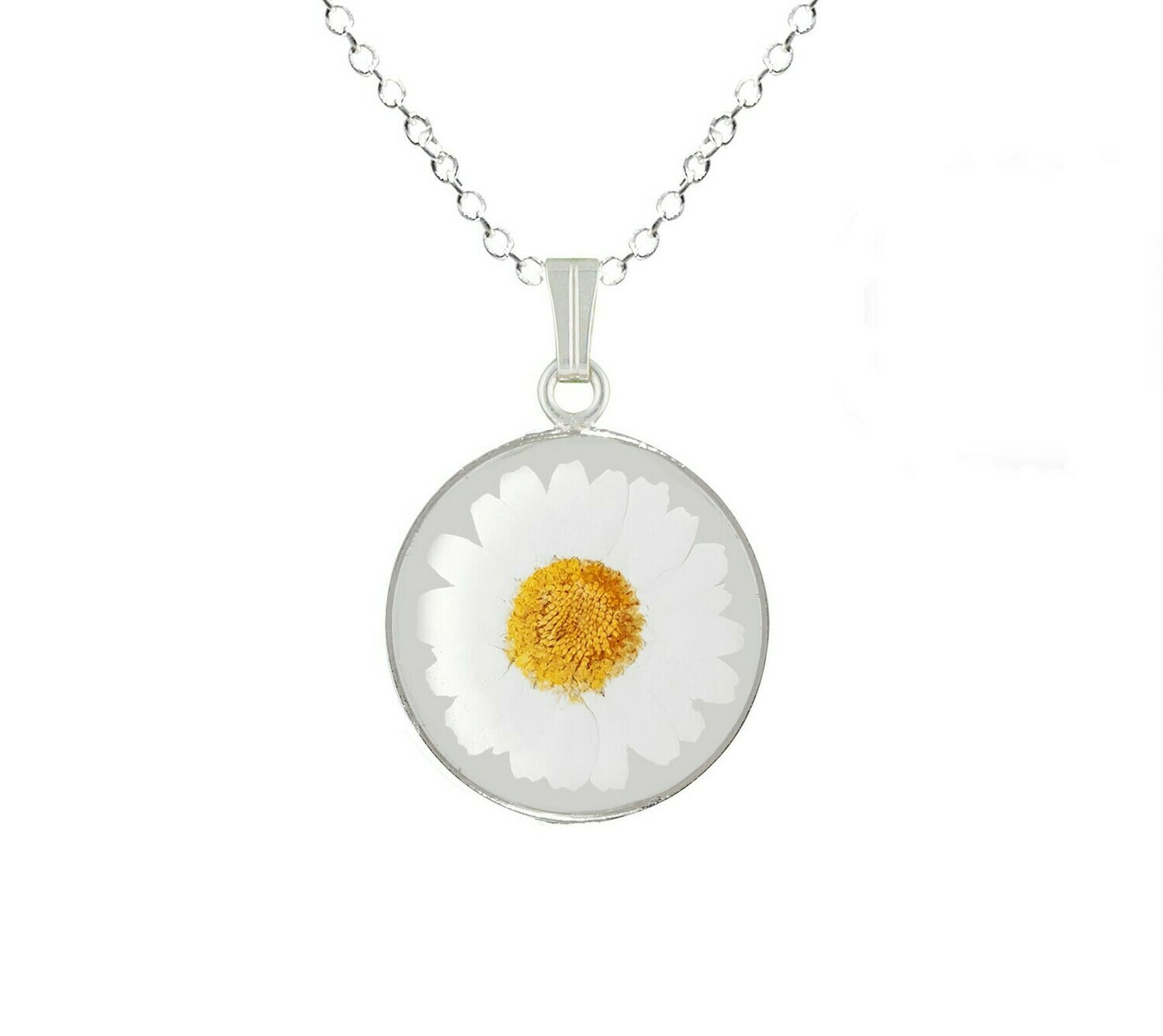 Daisy Necklace, Medium Circle, Transparent