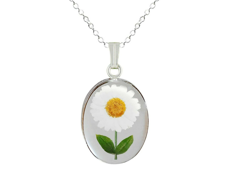 Daisy Necklace, Medium Oval, Transparent