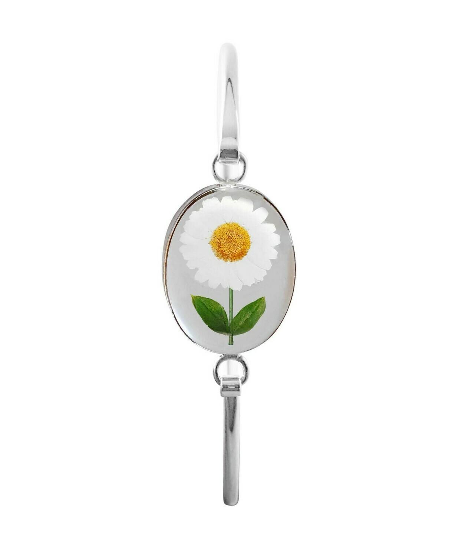 Daisy, Oval Bracelet, Transparent