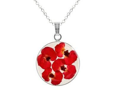 Crown of Thorns Necklace, Medium Circle, Transparent