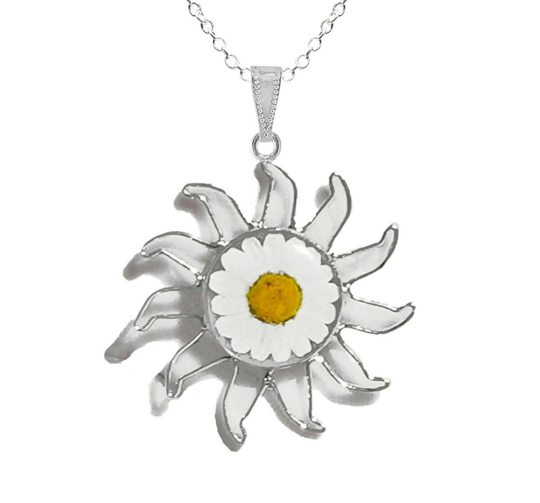 Daisy Necklace, X-Large Sun, Transparent