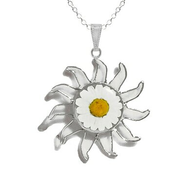 Daisy Necklace, X-Large Sun, Transparent