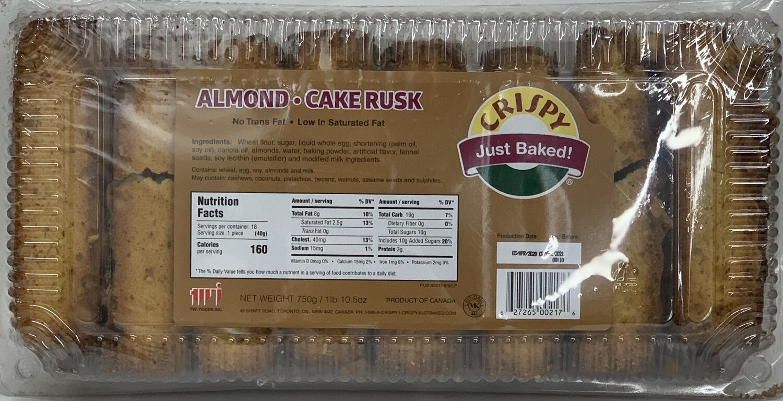 Crispy - Almond Cake Rusk (750gr)