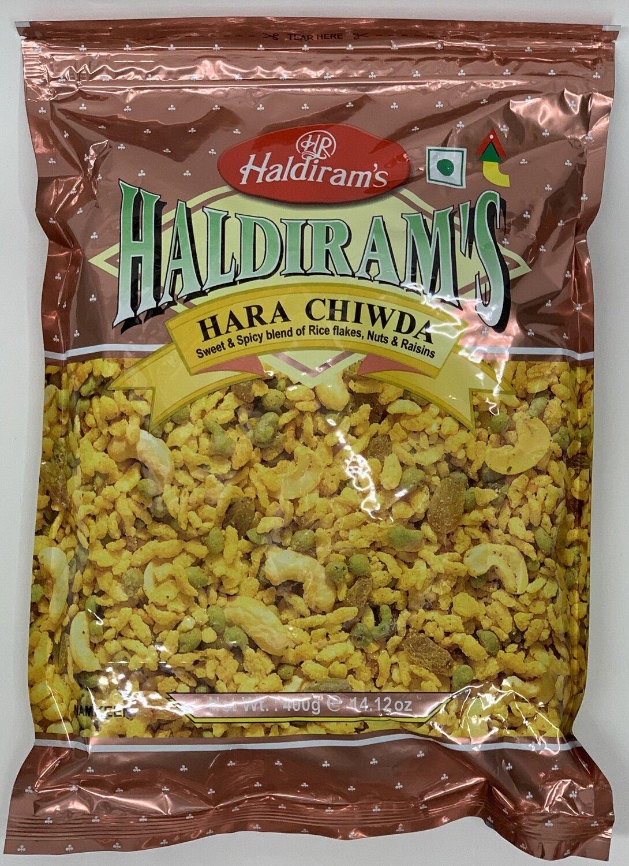 Haldiram - Hara Chiwda  (400gr)