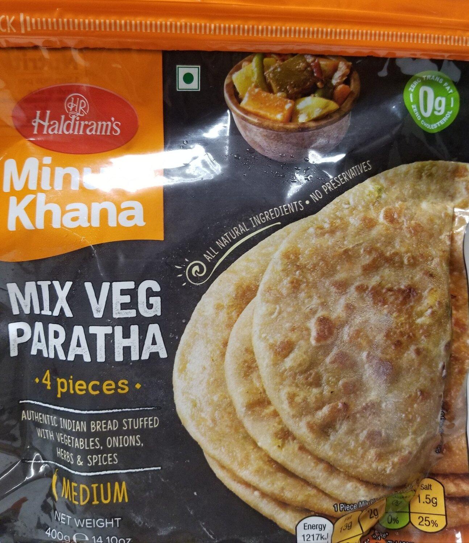 Haldiram - Mix Veg Paratha  (400gr)