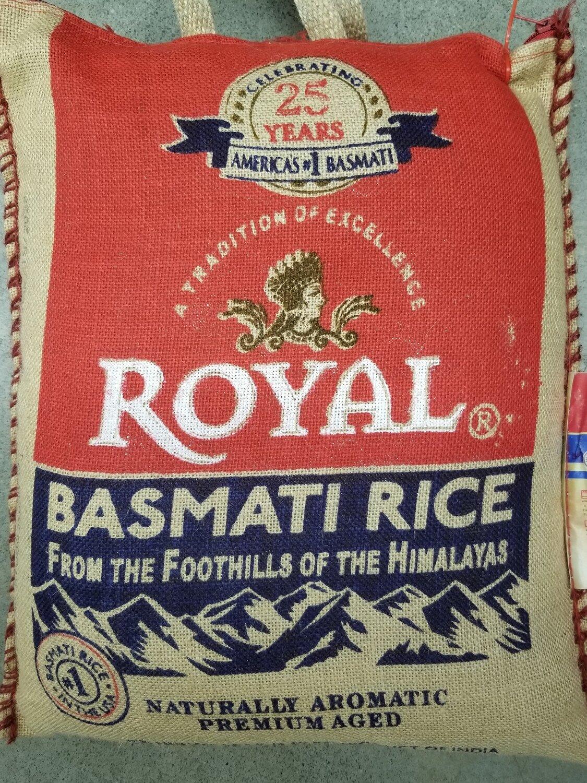 Royal - Basmati Rice Jute Bag (20lb)