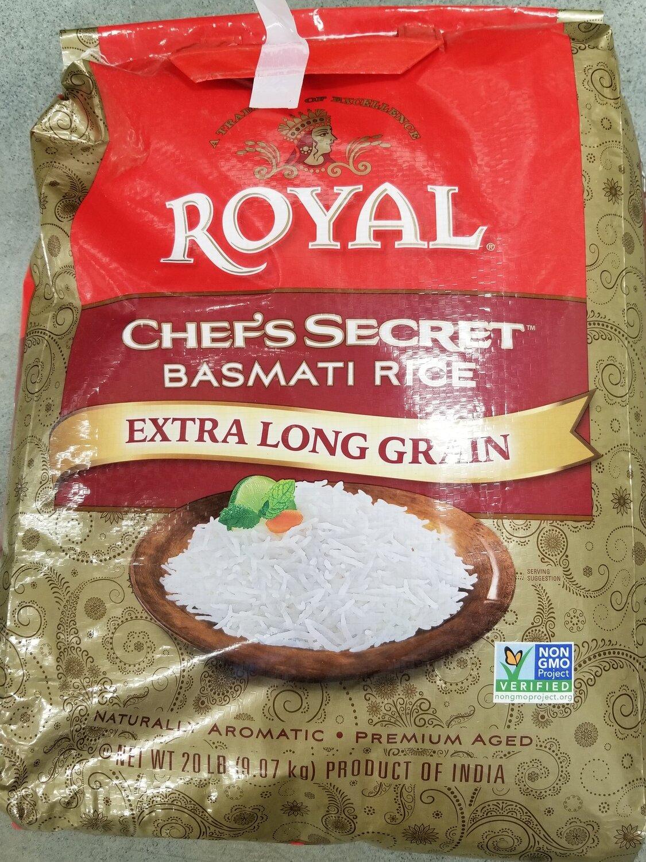 Royal - Chefs Secret Basmati Rice Extra Long  (20lb)
