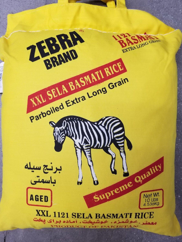Zebra  - Parboiled Sela Basmati (10lb)