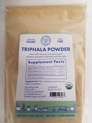 Pure Indian Foods - Triphala Powder Organic  (8OZ)
